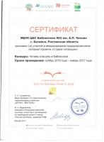 Сертификат участия в интернет-проекте